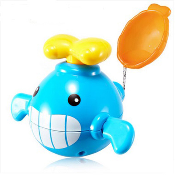 Wholesale- New Arrived Babies Cute Swimming Toy Paddle Small Whale Small Animal Bath Toy Classic and Cognitive Floating Toy