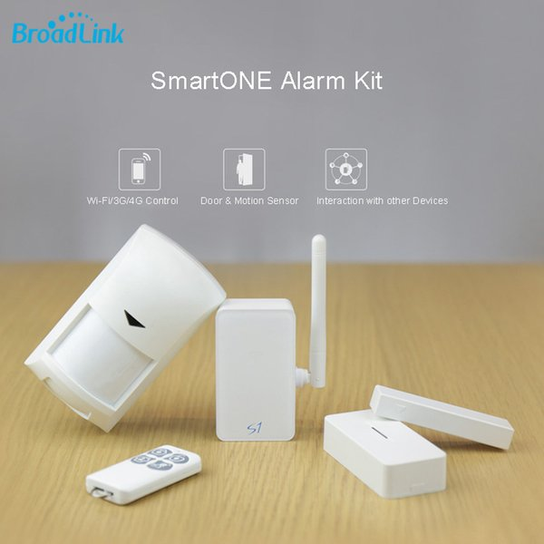 Wholesale- Broadlink S1/S1C SmartOne Alarm&Security Kit Motion Sensor For Smart Home Automation Alarm System IOS Android Remote Control