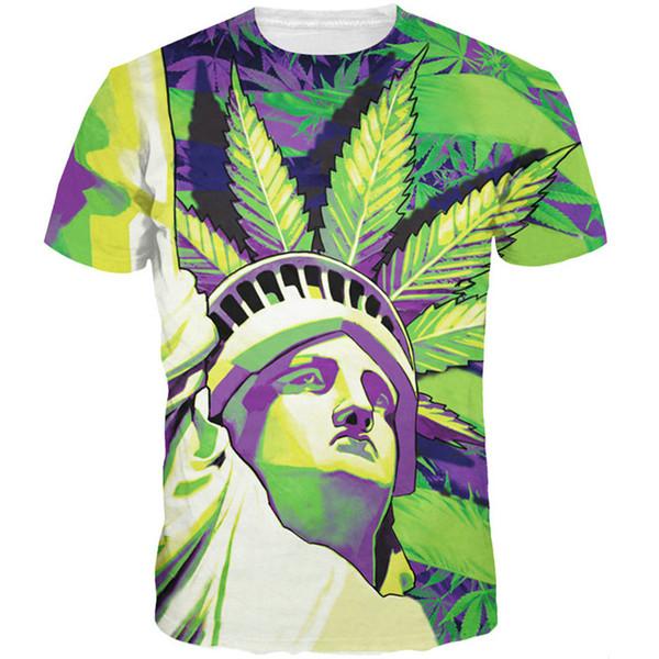 Statue of Liberty T shirt Stylish street short sleeve Fashion tees Cool printing clothing Unisex cotton Tshirt