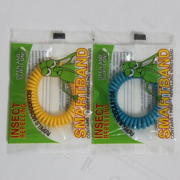 best selling 1200pcs New Mosquito Repellent Bracelet Stretchable Elastic Coil Spiral hand Wrist Band telephone Ring Chain Anti-mosquito bracelet
