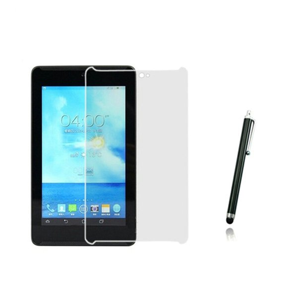 """Wholesale- 1x films + 1x Clean cloth + 1x Stylus , Clear LCD Screen Protector Protective Film Guards For ASUS FonePad HD 7 ME372 ME372CG 7"""""""
