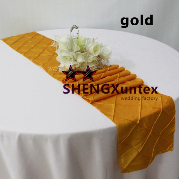 top popular Pintuck Taffeta Table Runner Used On Table Cloth Free Shipping 2019