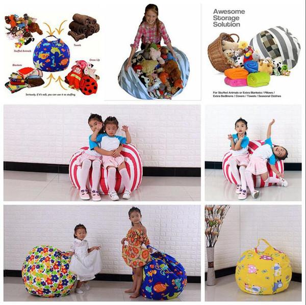 Pleasing 2017 Kids Storage Bean Bags 60Cm 18Inch Plush Toys Beanbag Chair Bedroom Stuffed Animal Room Mats Portable Clothes Storage Bag Ooa3523 From Creativecarmelina Interior Chair Design Creativecarmelinacom