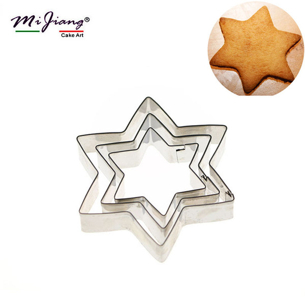 Stainless Steel Star Shaped Cake Cutter Slicer Molds DIY Sugar Paste Biscuit Cookie Cutter Set Fondant Cake Decorating Tools Bakeware A300