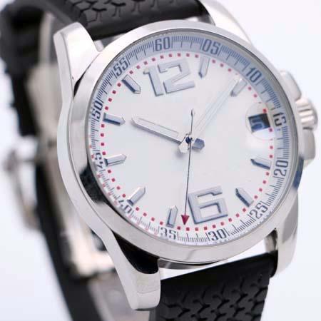 Hohe Qualität Chopad Retro Style Herrenuhr Transparent Zurück 44 MM Automatische Mechanische Uhren Auf Einem Symbolischen Profilmuster Schwarz Gummiband