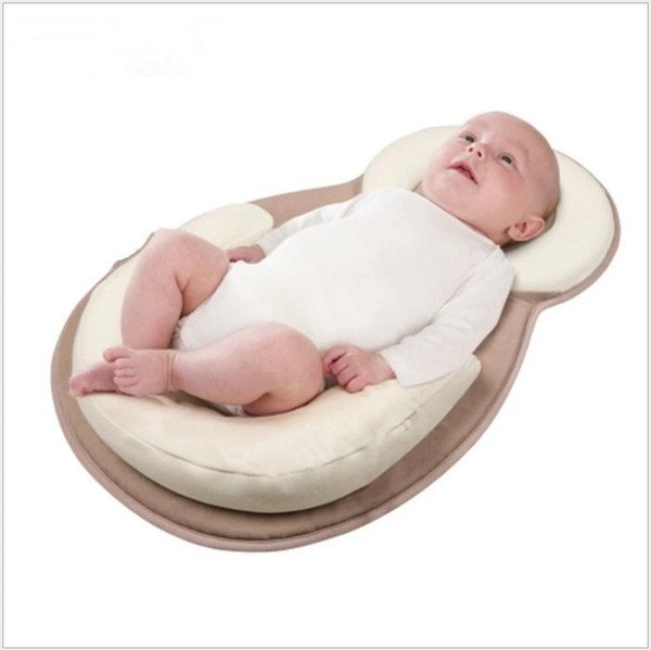 top popular 2017 New Arrivals 0-8 Months Head Qualitative Pillows Infant Positioning Latex Pillow Baby Pillow Newborn Sleeping Pillow 2021