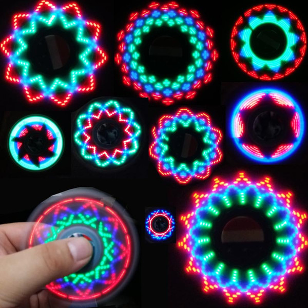 American Flag LED Fidget Spinner Light Mano Spinner Triangolo Finger Spinning Top Decompression Dita Tip Top Giocattoli
