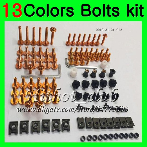 Fairing bolts full screw kit For KAWASAKI NINJA ZX12R 00 01 ZX 12 R 00-01 ZX 12R ZX-12R 2000 2001 Body Nuts screws nut bolt kit 13Colors