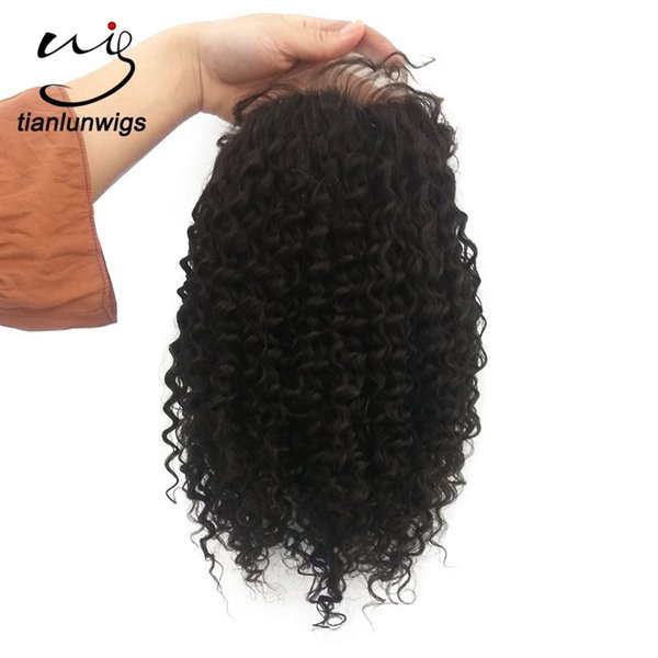 10inch natural color afro kinky curly short hair full lace wigs nice lace front wig brazilian human hair