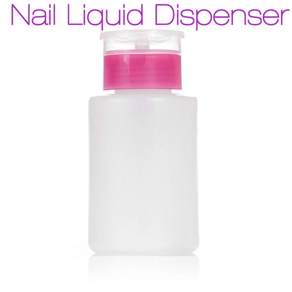 Wholesale- New Empty Pump Dispenser Nail Polish Liquid Alcohol Remover Cleaner Bottle DIY Nail Art Tools 100ML 2017 Hot Manicure Beauty