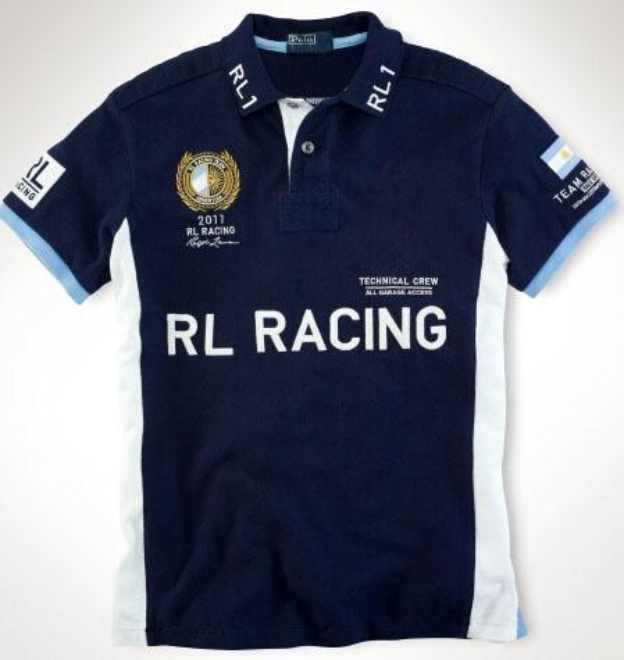 Argentina Horse Fashion Team Racing Polo T Shirts Mens Short Sleeve Spain S/M/L/XL/XXL Cotton Embroidery Race Slim T-Shirt