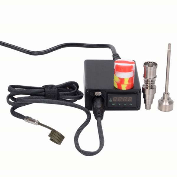 2017 eléctrico dab e nail kit sin hogar bobina de calefacción 10mm / 16mm / 20mm titanio nail PID caja de control de temperatura envío gratis