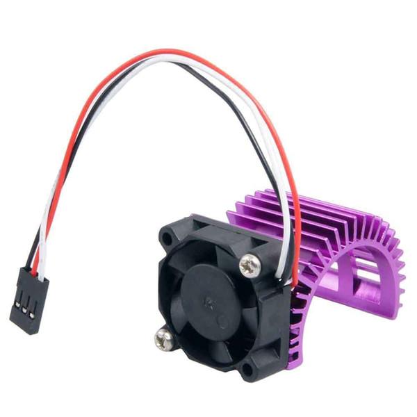 2PC RC HSP Purple Alum 540 Motor Heat Sink DC 7.2V Brushless Fan For 3650 Motor
