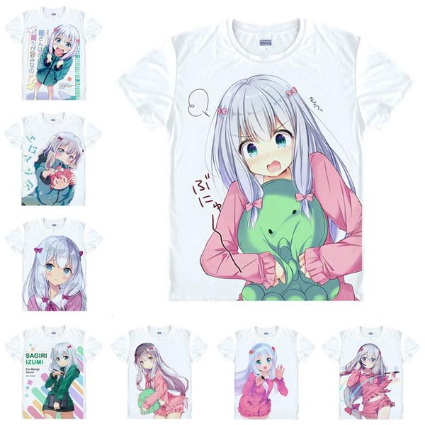 Japanese Anime Shirt Eromanga Sensei T-Shirts Multi-style Short Sleeve Ero-Manga Hikikomori Sagiri Izumi Cosplay Costume Kawaii Gift