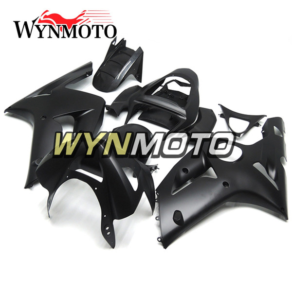 Matte Black Full Fairings For Kawasaki ZX-6R 636 2003-2004 03 04 Injection ABS Plastics Hull Covers Motorbike ZX6R Frames Bodywork Panels