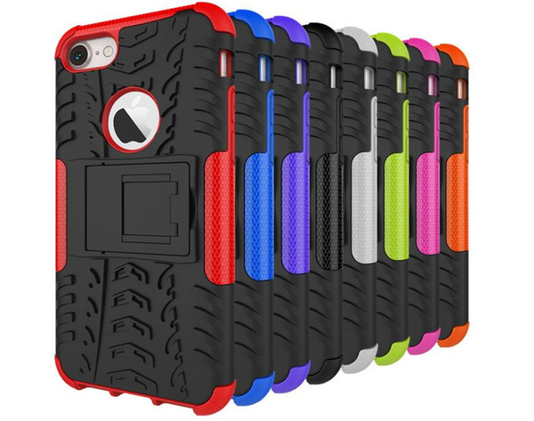 Per Iphone 7 Iphone7 4.7 '' / Plus Armatura Rugged Square Hybrid Spider Hard PC in plastica + Custodia in silicone per TPU morbida Custodia antipioggia