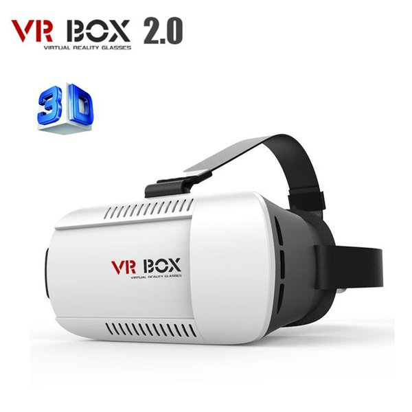 Wholesale- Google Cardboard 3D VR Glasses Virtual Reality Box V2 VR Goggles Rift for iPhone 6 Plus 4.7 5.5 6 inch Android iOS Smartphone
