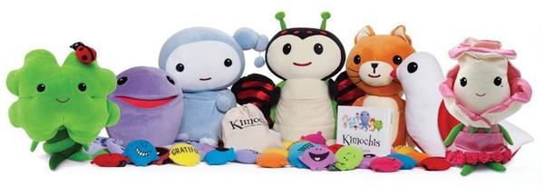 Mini Kimochis Mini Mood Stuffed Animals Plush Toys 7 Designs Bug,Huggs,Bella Rose,Cat,Dove,Clover and Cloud Plush 18-21cm