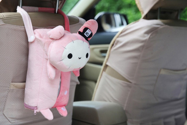 1PC Cute Animal Home Office Car Tissue Box Container Towel Napkin Papers Bag Holder BOX Case Pouch C 0015