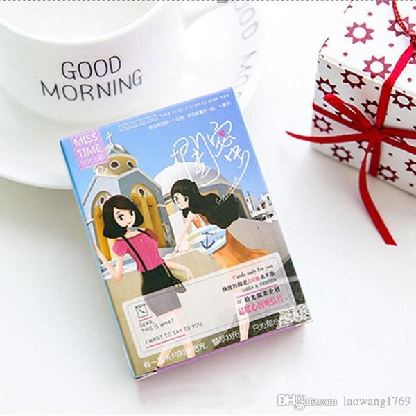 Box Kawaii Girlfriends Creative Small Cards Greeting Card Message