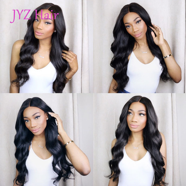 best selling Natural Color Full Lace Wigs Body Wave Human Hair Brazilian Peruvian Malaysian Indian Body Wave Lace Front Human Hair Wigs With Baby Hair