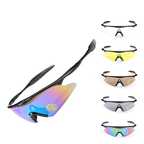 Cycling Eyewear Lens Ski Goggles Outdoor Sports Bicycle Sunglasses Pliable And Tough Riding Military Fans Tactical Glasses 6 8yt F