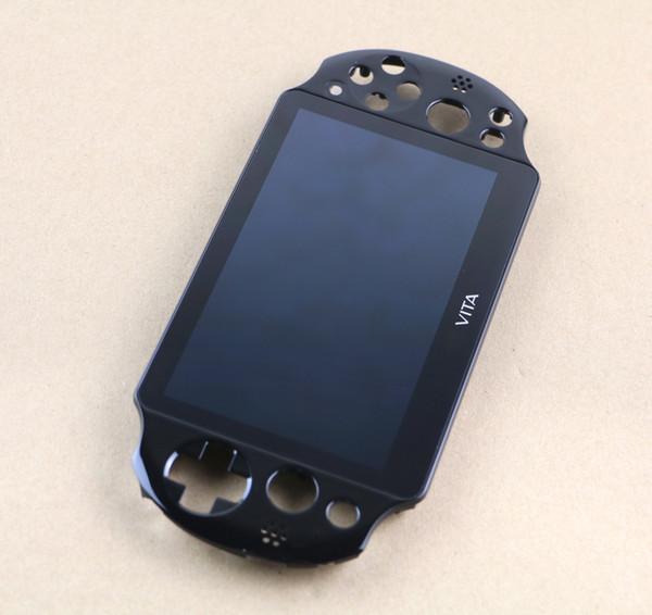 Schermo LCD originale nero con touch screen digitale montato per PS Vita 2000 PSV2000