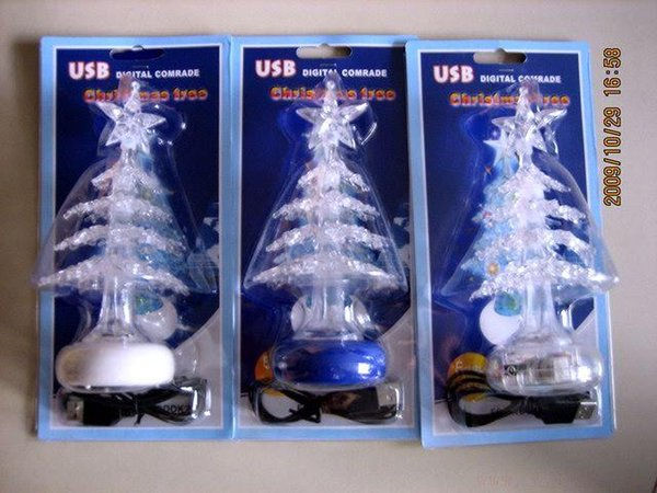 Christmas Gift USB battery with two colorful LED lights Christmas tree / Colorful LED Christmas gift