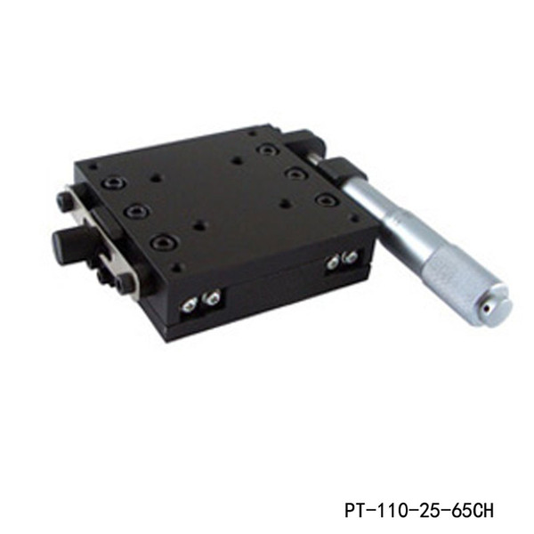 X Axis Manual Linear Stage Manual Displacement Station Manual Platform Optical Sliding Table 25mm Travel PT110-25-65CH