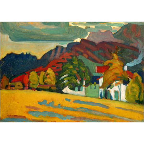 Hand Painted abstract paintings Wassily Kandinsky Houses and Mountains art oil canvas High quality home decor