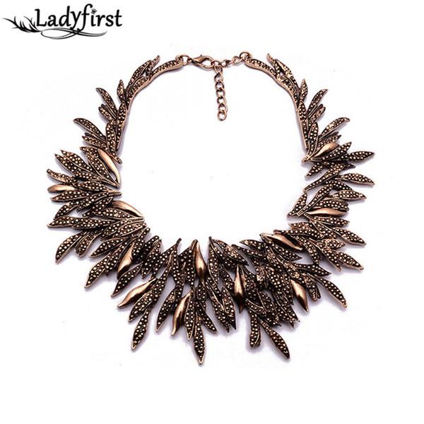 Новый дизайн big-name ZA мода лист стиль ожерелье высокое качество заявление ожерелье костюм ожерелья подвески B244