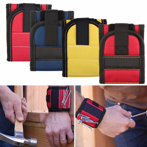 top popular Magnetic Wristband Pocket Tool Belt Pouch Bag Screws Holder Holding Tools Practical strong Chuck wrist Toolkit 2019