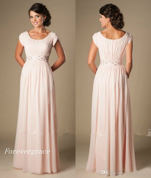 Country Style Blushing Pink Long Bridesmaid Dress Chiffon Beach South African Maid of Honor Dress Wedding Guest Gown Custom Made Plus Size