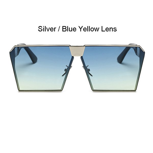 Cadre Argent Bleu Lens Jaune