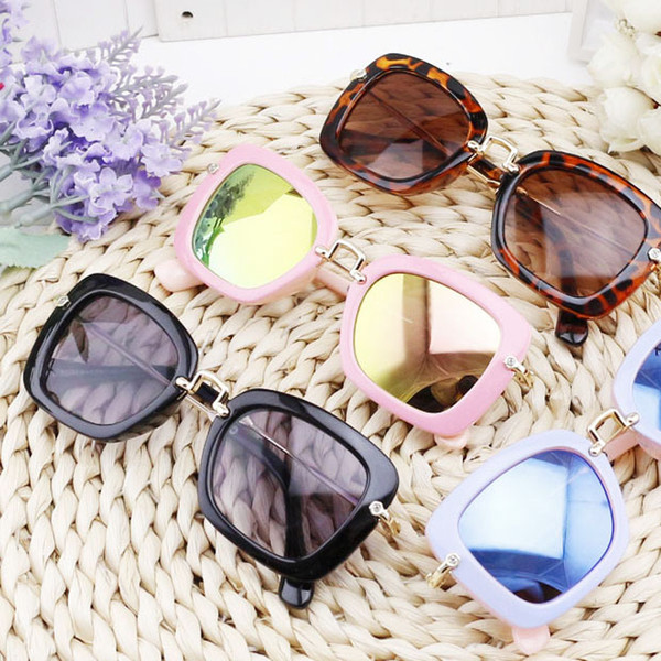 2016 New Fashion square private fashion sun glasses for kids,children's sunglasses cool boys girls baby sunglasses 10pcs 2928#