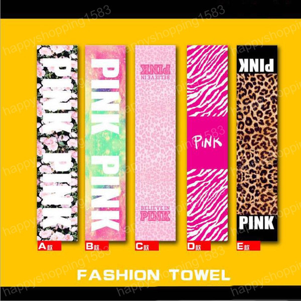 vs pink bath beach towel fitness sports towel vs bath towel leopard flower swimwear bathroom towels - Cheap Beach Towels
