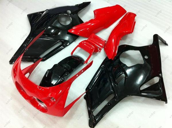 Kits de carrosserie FZR250R 1986 Carénage ABS FZR 250 R 1989 Carrosserie noir rouge pour YAMAHA FZR250 1987 1986 - 1989 Lampe circulaire / papillon