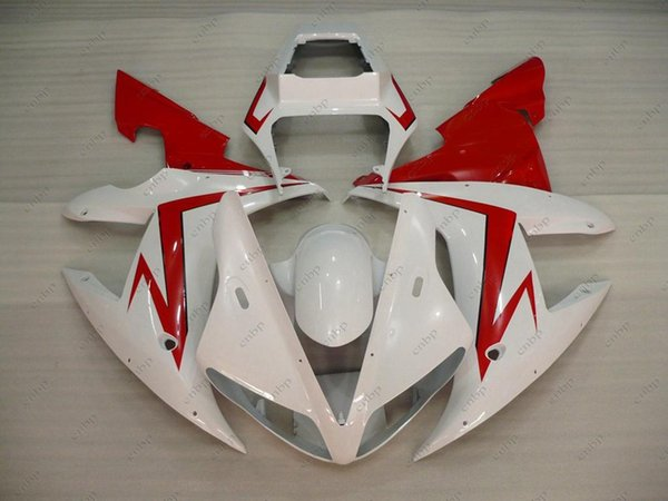 ABS Fairing for YAMAHA YZFR1 02 Full Body Kits YZFR1 2002 White Red Fairing Kits YZF1000 R1 03 2002 - 2003