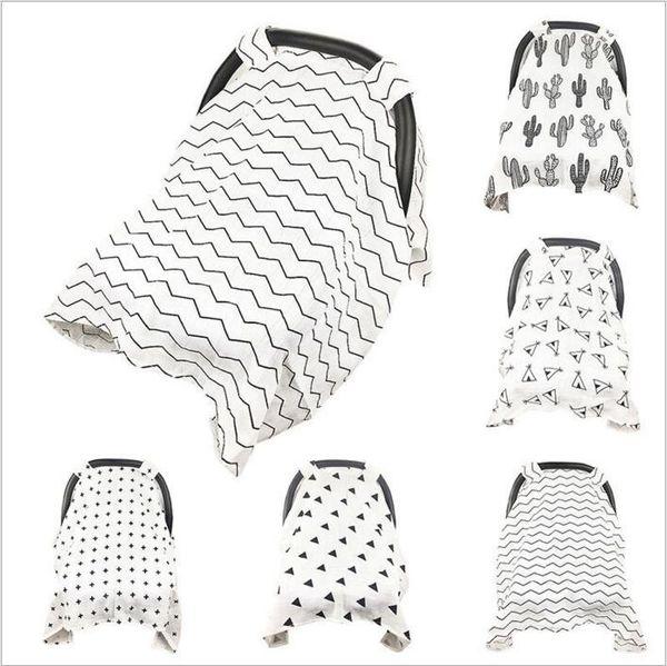 Muslin Baby Car Seat Canopy Ins Cotton Carseat Covers Cojín Recién Nacido Cubrir Lactancia Materna Cubiertas de Enfermería Sleep Cochecito Caso Mantas B3014