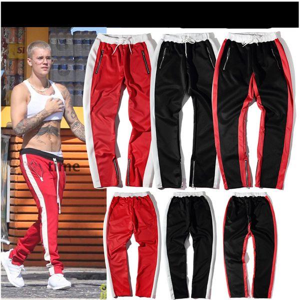 Autumn Vellsar Zipper Pants Hip Hop Cotton Jogger Urban Clothing Casual Men Pants Bottoms Rap Classic Black Red Pants