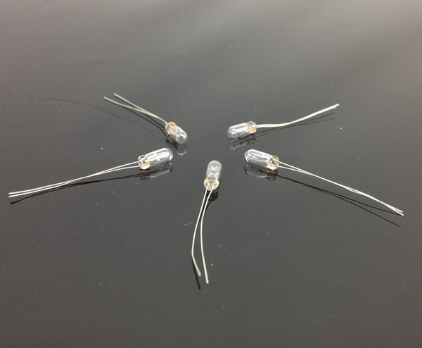 best selling Wholesale-MP02W 3mm Clear Miniature 12V Grain of Wheat Bulbs Warm White NEW
