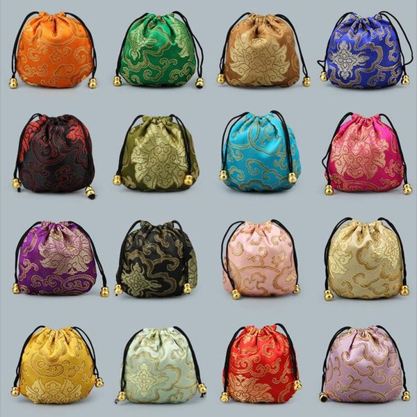 11x11cm Drawstring Pouch Jewelry Bag,Weekend New Year Birthday Christmas Wedding Party Gift Pouch Bag F20171554