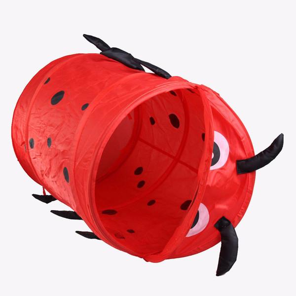 Wholesale- Cute Animal Storage Bucket Folding Cylinder Laundry Basket Toy Box 9 Style Toy Box Organizer Storage Bag