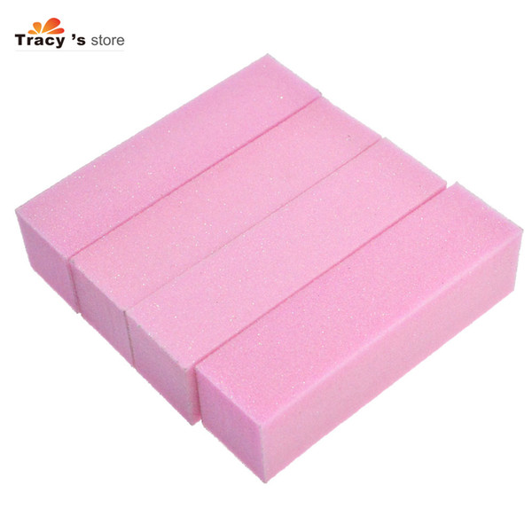 4pcs/sets Pro Pink Sandpaper Block Buffer Nail Art Sanding Files for Polishing Grinding Nails Tips Salon Manicure Tools TR05