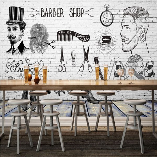 3d Stereo Custom Hd Vintage Barber Shop Background Wall Decorative Painting Image Wallpaper High Quality Mural Computer Wallpaper Hd Computer
