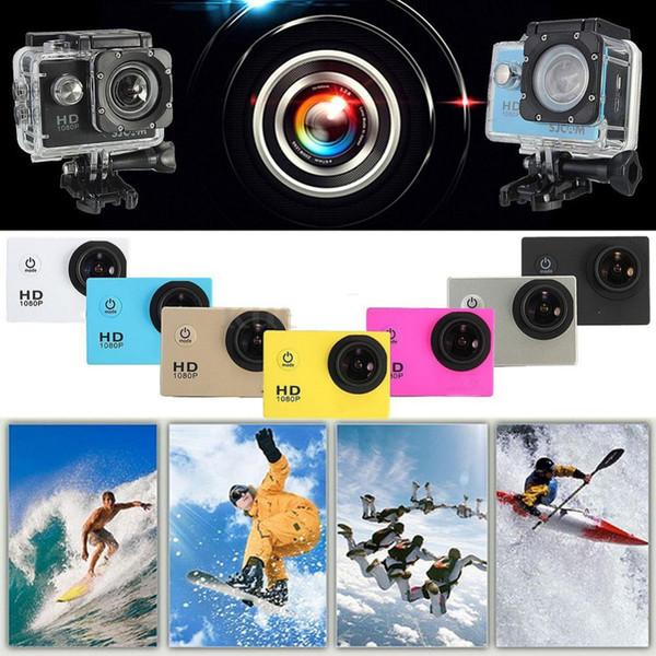 Neue SJ4000 Mini Action Digitalkamera 1080 P HD Cam Wasserdichte 30 Mt Sport DV Camcorder Schwarz / Weiß / Silber / Rot / Gelb / Gold / Blau