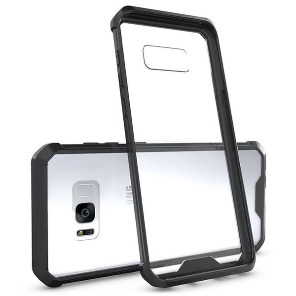 Galaxy S8 Cell Phone Cases Case Soft TPU Bumper + Clear Hybrid Back Cover Case For Iphone 7 7plus Samsung S8 S8plus Google Pixel