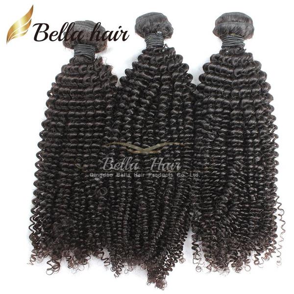 Brezilyalı Saç Sapıkça Kıvırcık Bakire Insan Saçı Örgüleri Uzantıları Demetleri Sınıf 7A 3 adet lot Doğal Renk Küçük Kıvırmak Bellahair