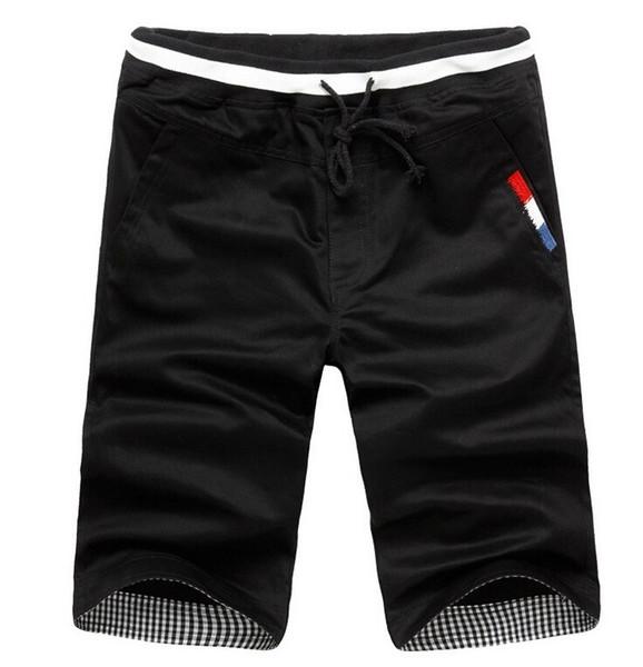 Vente en gros-Pas cher soldes 2016 Summer New mode hommes Shorts Hommes casual Shorts en coton Couleur unie hommes Pantalons courts plage Marque M-XXXL