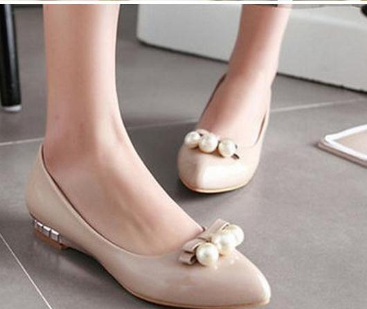Low melting documentary shoes female 2016 spring new paint pointed mouth shallow women shoes